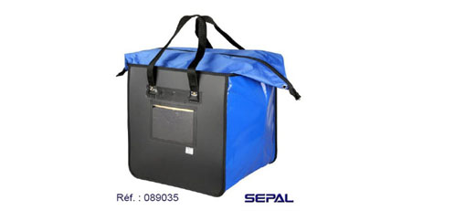 Ce sac facilite le transport des documents lors de la liaison inter-site.