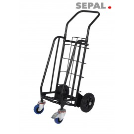 CHARIOT PLIABLE DISTRIBUTION- 1 PILE - 4 ROUES