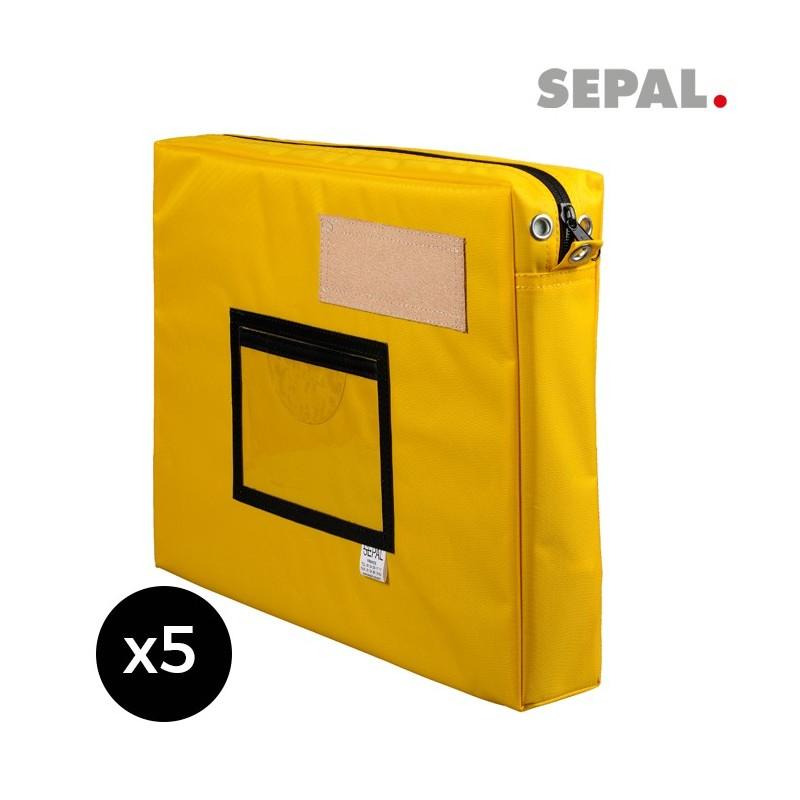 sacoche navette courrier  avec soufflet - 400x300x50