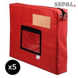 sacoche navette courrier  avec soufflet - 450x350x50mm