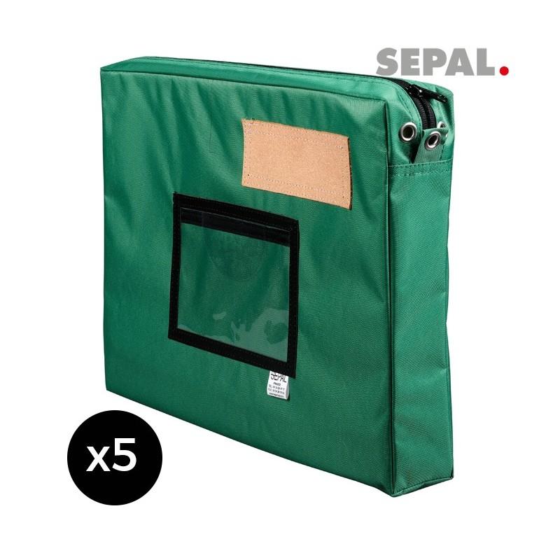 sacoche navette courrier  avec soufflet - 450x350x50