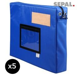 sacoche navette courrier  avec soufflet - 500x400x50