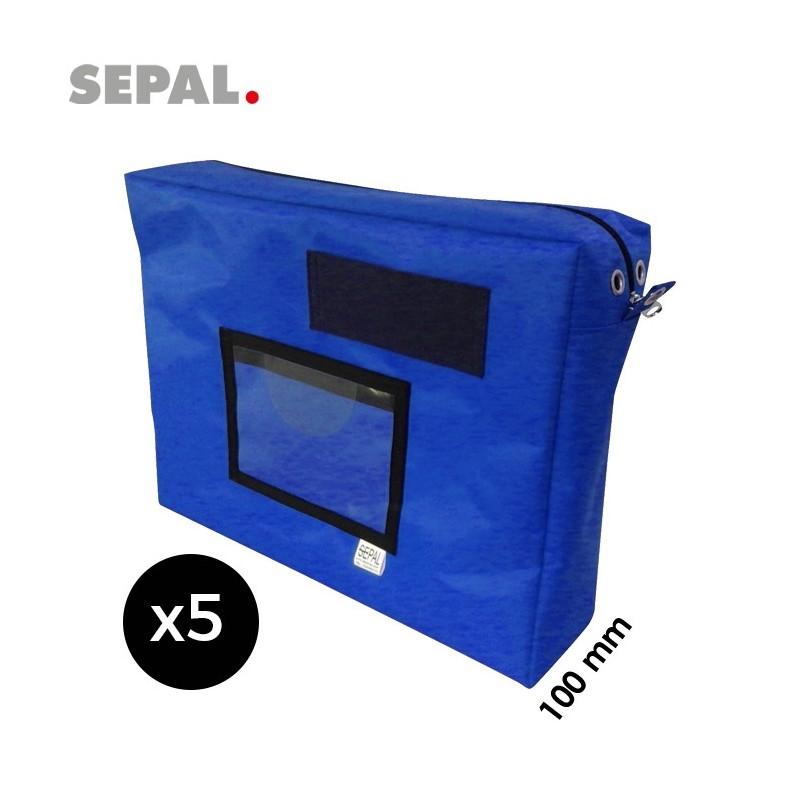 sacoche navette courrier avec soufflet 100mm - 450x350x100