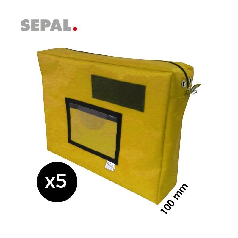 sacoche navette courrier avec soufflet 100mm - 400x300x100