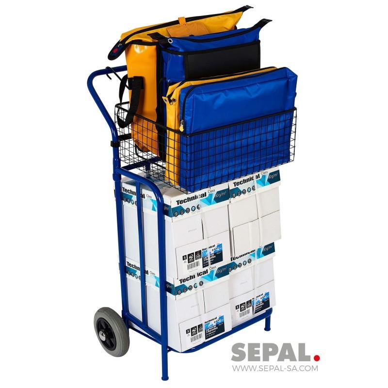 Chariot-distribution-publicité-imprimés-panier-SEPAL