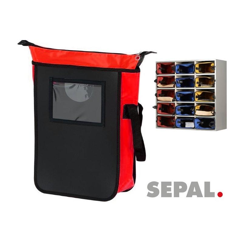 SACOCHE Sacoche-navette-courrier-9584-L280xP380xH100mm-rouge-sepal COURRIER